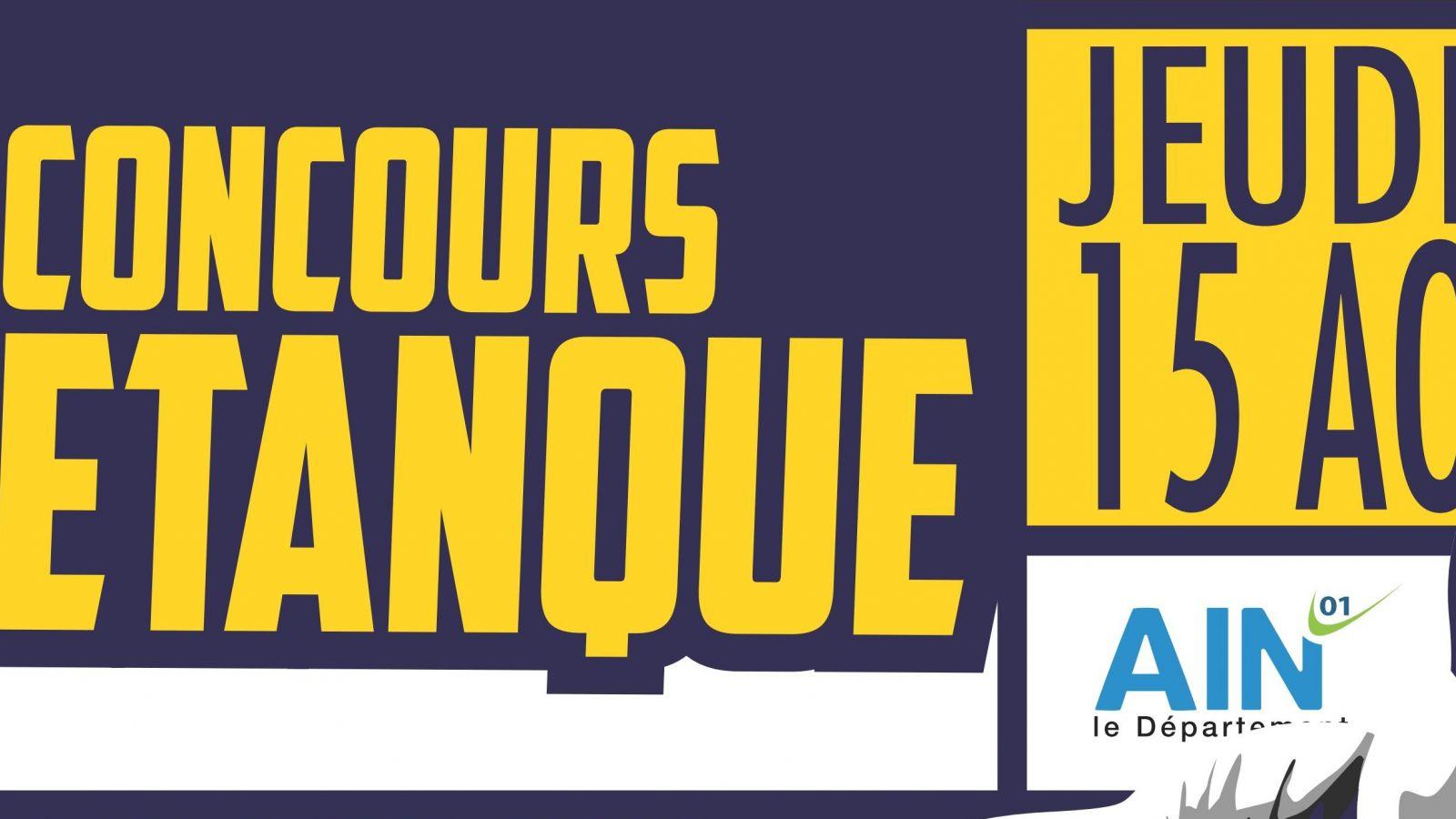 Concours de pétanque, jeudi 15 août 2019
