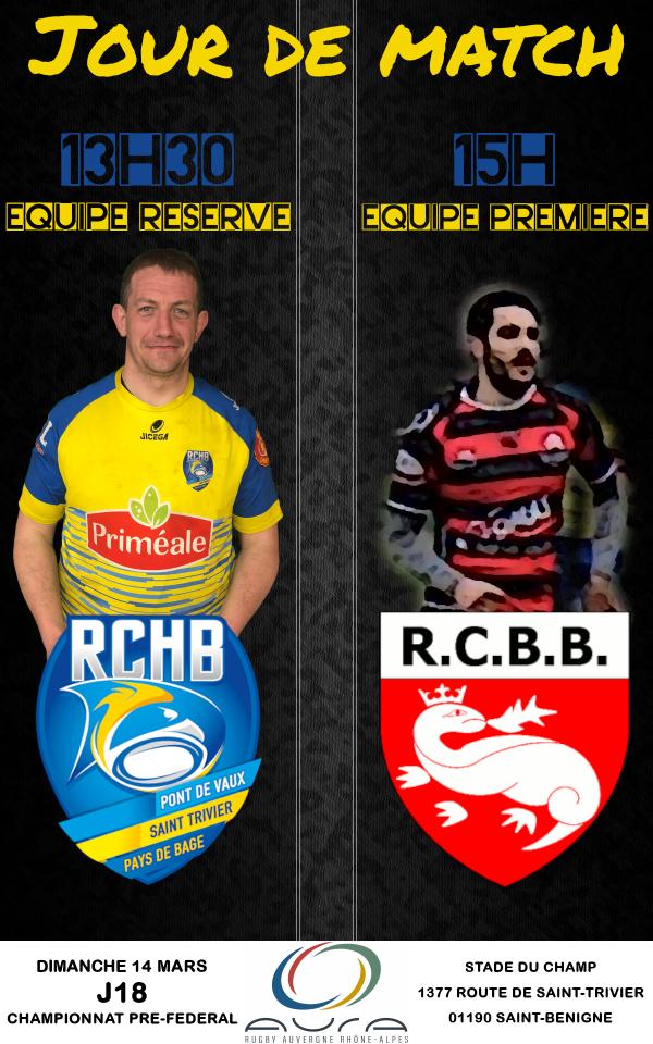 Bassin RCHB B vs RC Belleville B