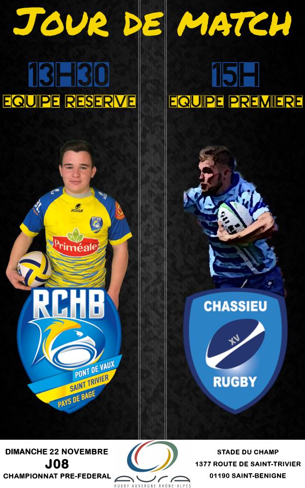 Bassin RCHB vs Chassieu Rugby