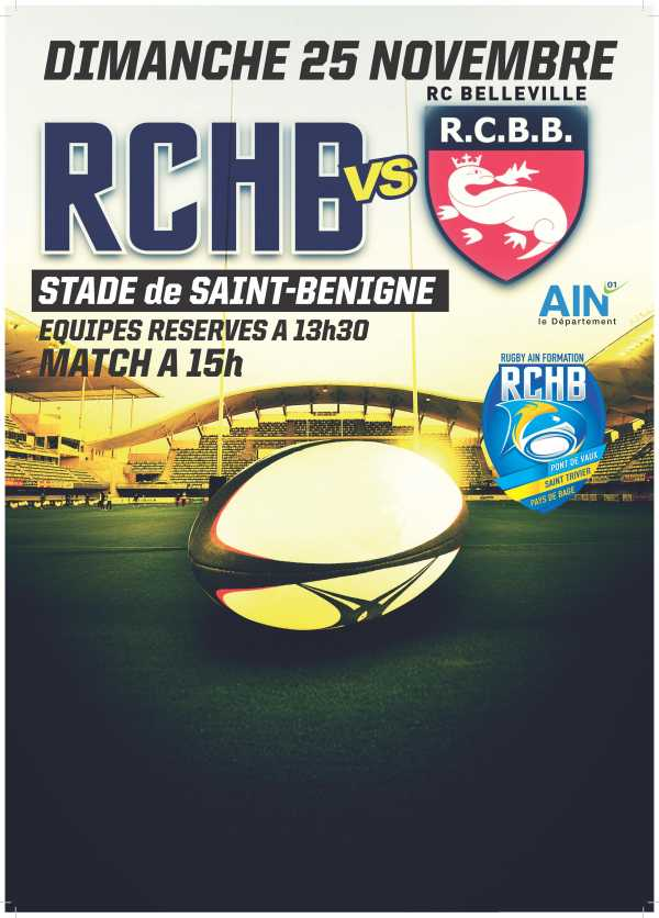 Bassin RCHB B vs RC Belleville en Beaujolais B