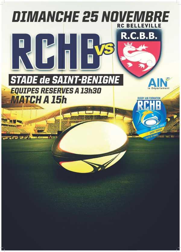 Bassin RCHB vs RC Belleville en Beaujolais