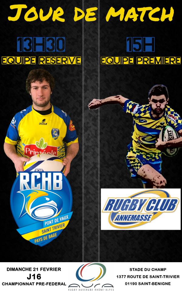 Bassin RCHB vs RC Annemasse