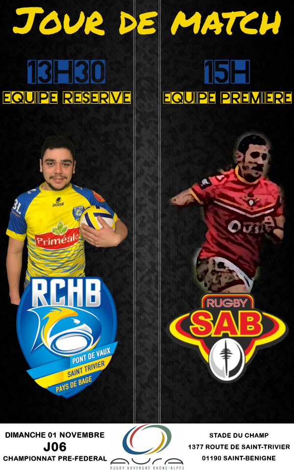 Bassin RCHB B vs SA Bourg B